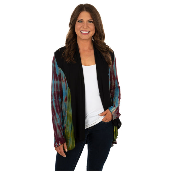 Perfectly Balanced Tie Dye Open Cardigan