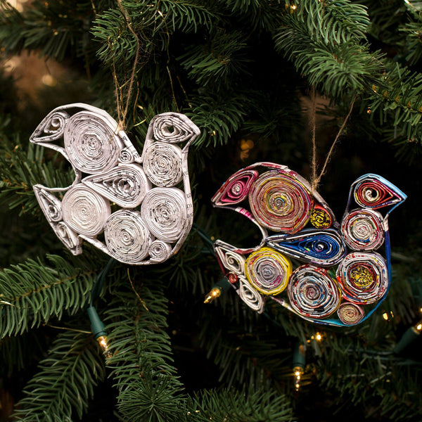 Recycled Magazine Ornament