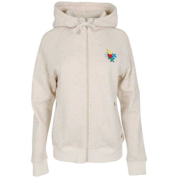 Autism Awareness Confetti Zip Hoodie