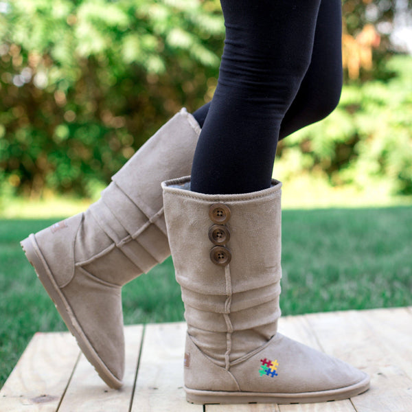 Autism Awareness Slouch Boots