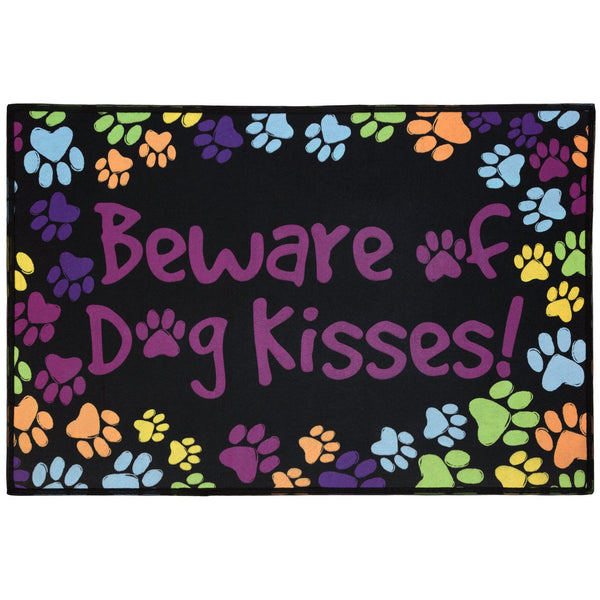 Beware Of Dog Kisses Indoor/Outdoor Mat