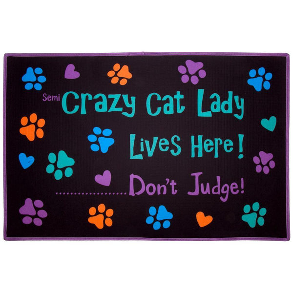 Crazy Cat Lady Door Mat