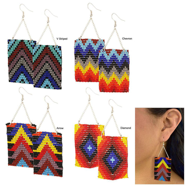 Geometric Beaded Earrings