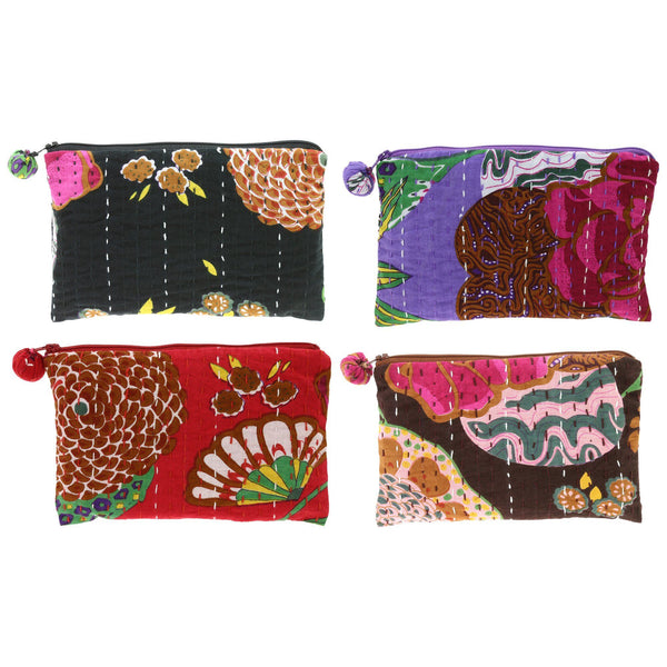 Hand-Stitched Kantha Cosmetic Bag