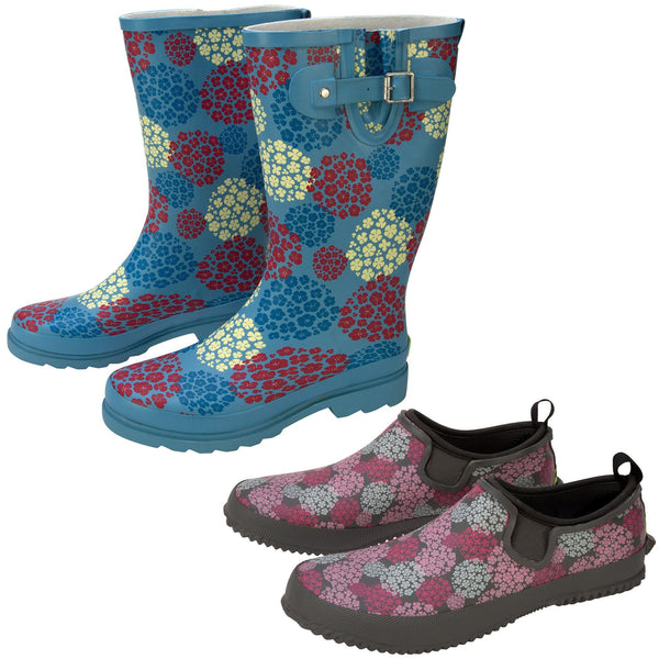 Hydrangea Blooms Rain Footwear Collection