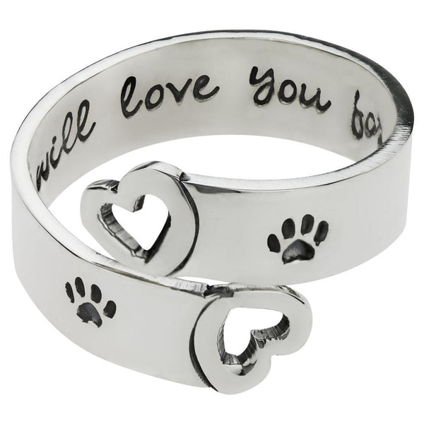 I Will Love You Forever Adjustable Sterling Ring