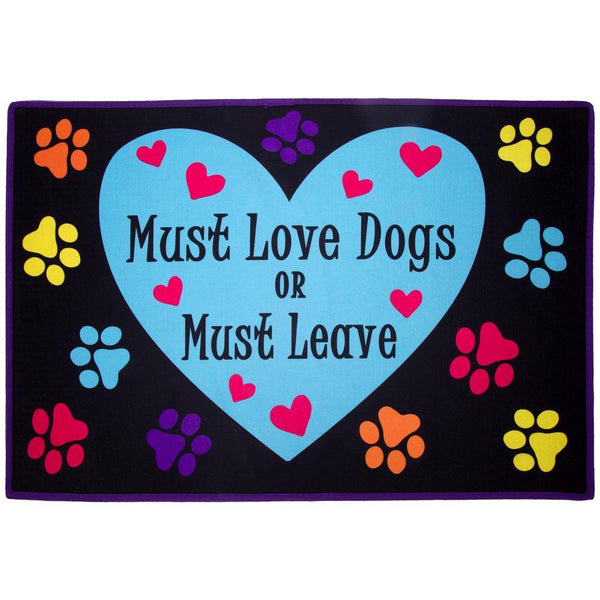 Must Love Dogs Door Mat