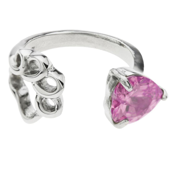 Paw Print Birthstone Ring