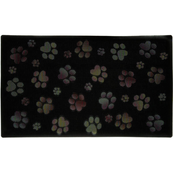 Paw Print Deep Bristle Rubber Welcome Mat