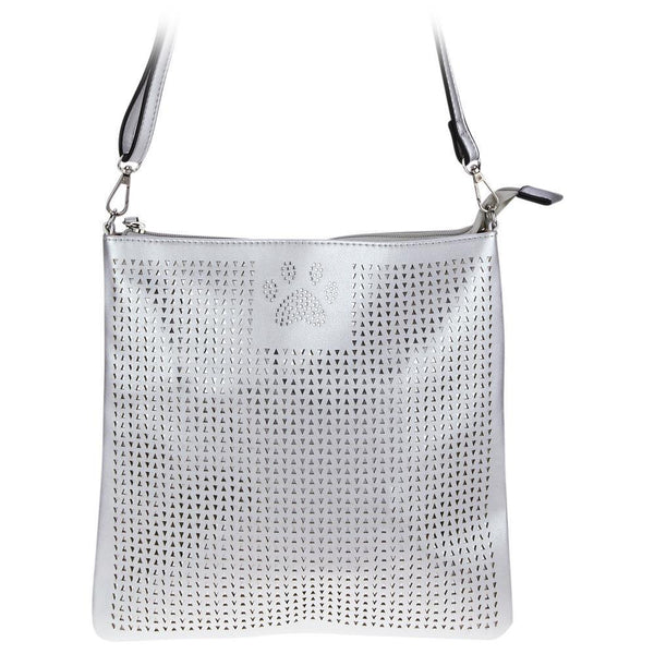 Pawfect Pewter Crossbody Purse