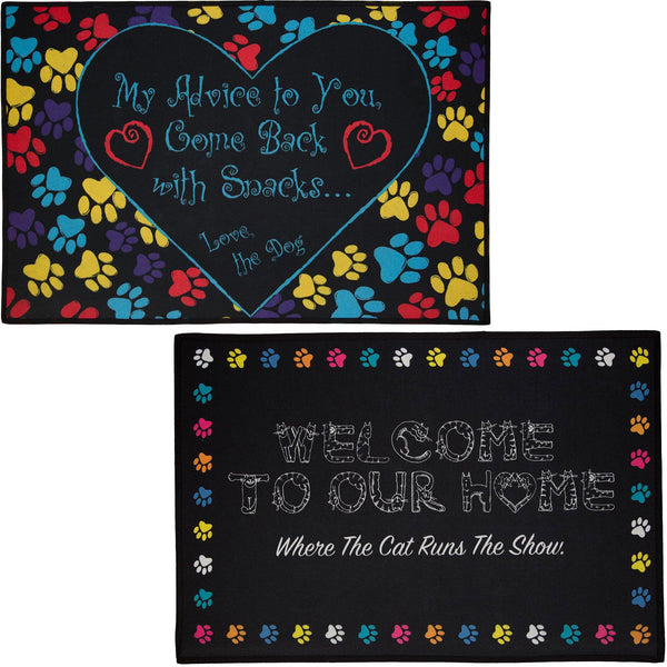Pets Run The Show Welcome Mat Collection