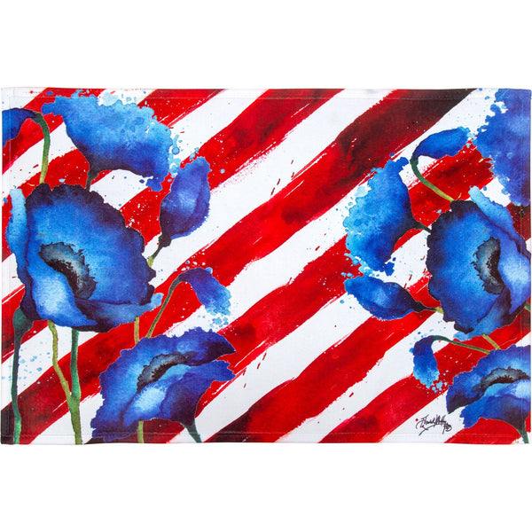 Red White & Bloom Indoor/Outdoor Mat