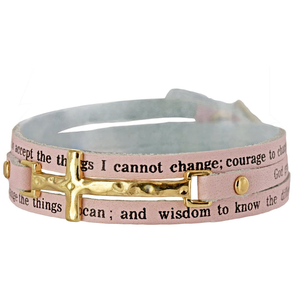 Serenity Prayer Cross Wrap Bracelet