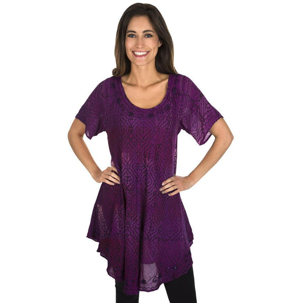 Shades Of Grace Short Sleeve Tunic