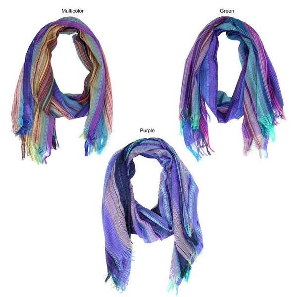 Sky Colors Hand-Loomed Scarf
