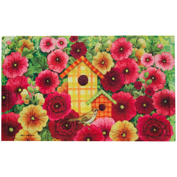Summer Birdhouse Embossed Floor Mat