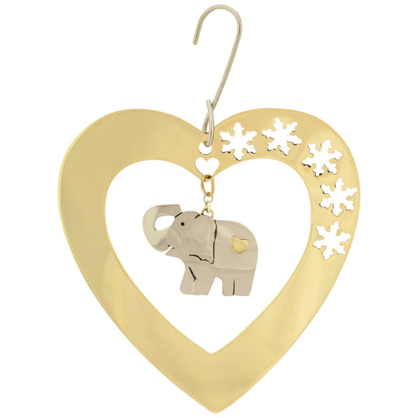 Sweet Elephant & Snowflakes Ornament