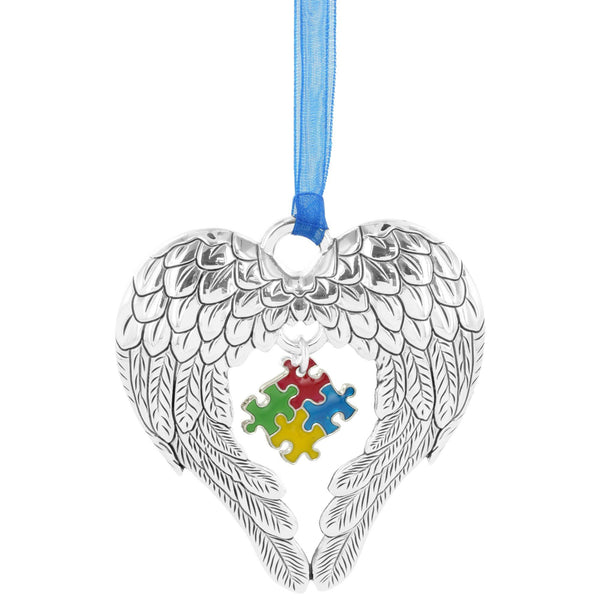 Wings Of An Angel Puzzle Piece Ornament