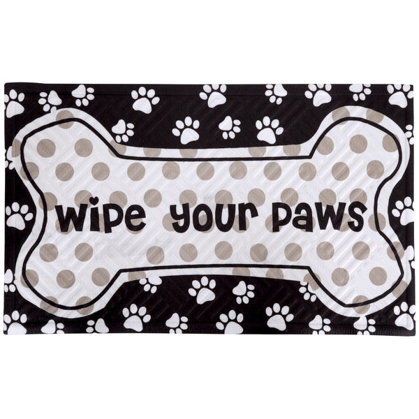 Wipe Your Paws Embossed Floor Mat