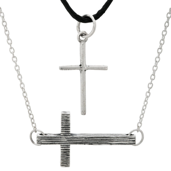 Wish You Well Cross Sterling Necklace