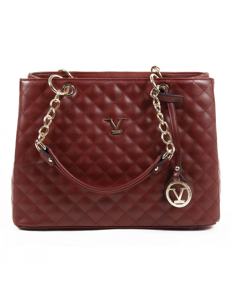 V 1969 Italia Womens Handbag VE03 CLARET RED