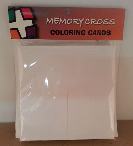 Blank Memory Cross Cards - 12 pack.  Size: 6 x 6