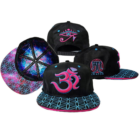 V3 OМ AWAKEN CROWN // Pink/Blue // Snapback w/ Interior Pocket