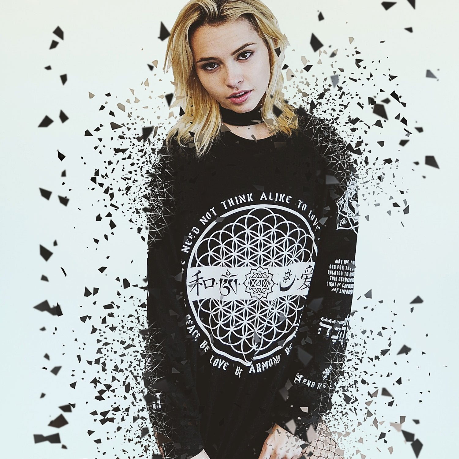LOVE IS THE ONLY LAW // Unisex Scooped Cut Long Sleeve