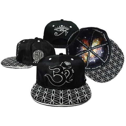 V2 OМ AWAKEN CROWN // Black/Silver // Snapback w/ Interior Pocket