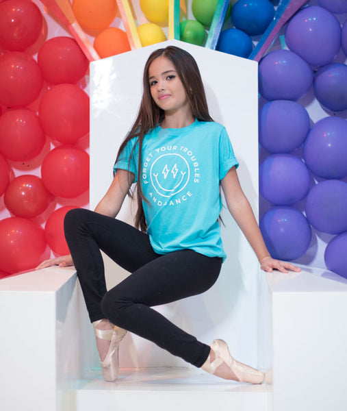 Alexa at the Fun Box in Forget Your Troubles Tee