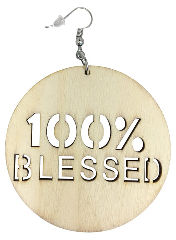 100% blessed earrings 100 percent faith jewelry christian accessories jewellery church fashion outfit clothing accessory easter idea