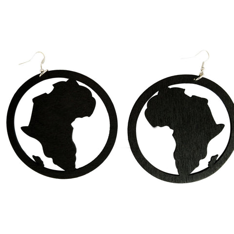 black hoop map of Africa earrings | Afrocentric earrings | natural hair earrings | afrocentric jewelry | african earrings | africa shaped earrings | african jewelry | african earrings jewelry | african hoop earrings