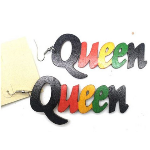 queen earrings natural hair jewelry protective hairstyles afrocentric fashion outfit ideas clothing accessories accessory jewelry jewellry ear rings rasta color multicolor