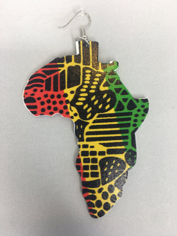 africa earrings map of shaped natural hair accessories afrocentric accessory jewelry jewellery fashion clothing outfit idea hairstyles tutorial