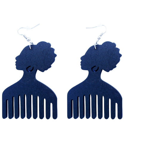 Afro pick earrings | afro pic earring | hair pick | afro comb | afro pick jewelry | pick comb | pick for hair | hair pick comb | black fist pick | afro hair pick | afrocentric jewelry | afrocentric earrings | natural hair | natural hair earrings