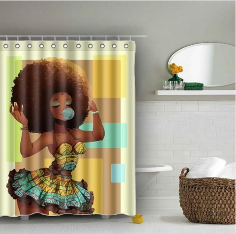 afrocentric home decor African american bathroom shower curtain decoration design idea