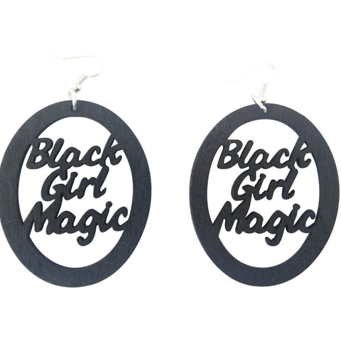 Black girl magic earrings | natural hair earrings | afrocentric earrings | afrocentric jewelry | afrocentric accessories | afrocentric fashion | black girl magic | afro earrings