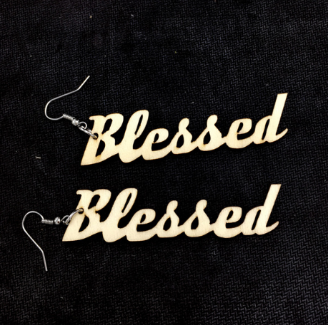 blessed earrings accessories accessory fashion faith bible natural hair Afrocentric church jewelry