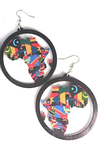 africa earrings | map of africa | africa shaped earrings | continent | natural hair | afrocentric | jewelry | accessories | African