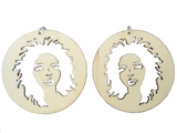 Lauryn hill earring afrocentric earring natural hair earring clothing jewelry afro wooden