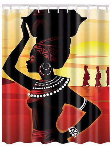 nubian queen afrocentric shower curtain bathroom home decor decorations black woman african american tribe gift idea christmas birthday kwanzaa women