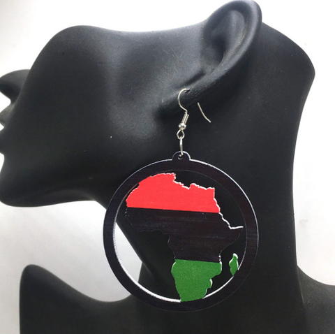 pan African flag earrings red black green jewelry natural hair accessories ear rings ring earring afrocentric accessory african american