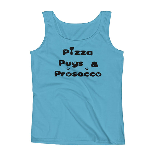 Pizza Pugs & Prosecco Tank top shirt
