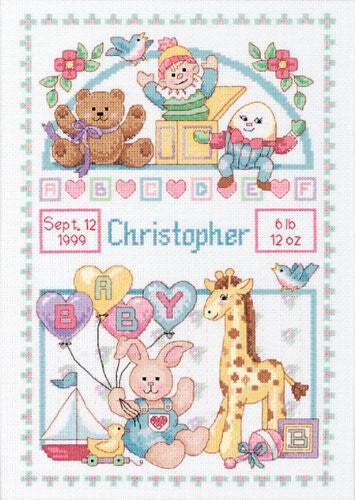 Dimensions Counted Cross Stitch Kit, Baby Birth Record
