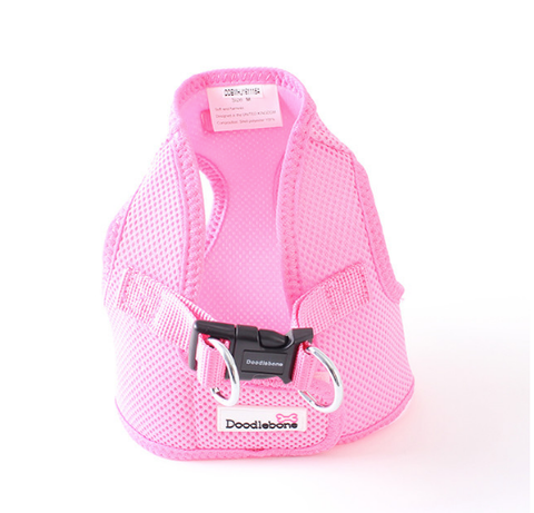 Doodlebone Airmesh Snappy Dog Harness Pink - HOUNDSONLINE