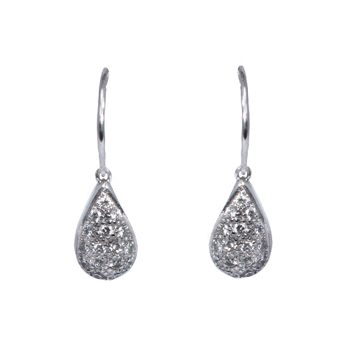 18ct White Gold & Diamond Teardrop Pendant, 0.64ct