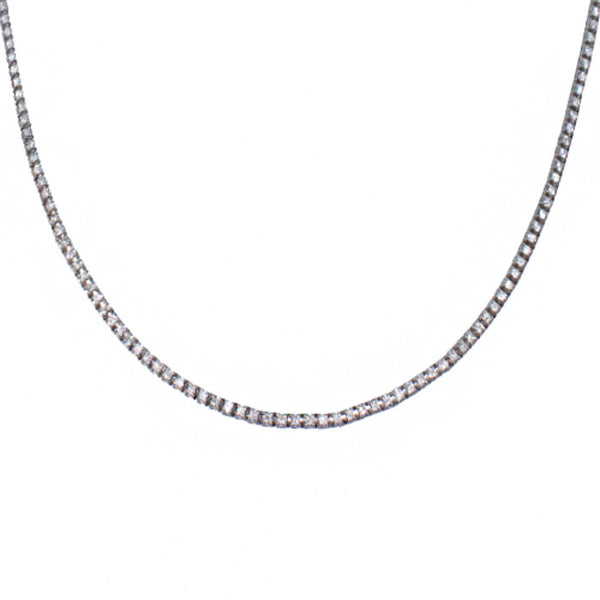 18ct White Gold Diamond Riviera Necklace, 2.35cts
