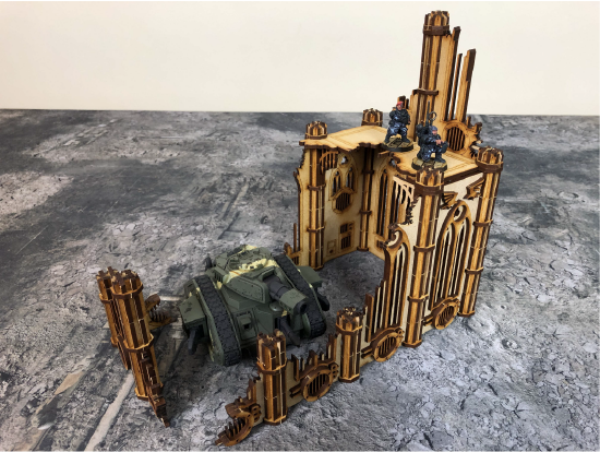Cracked Collegium Terrain Set