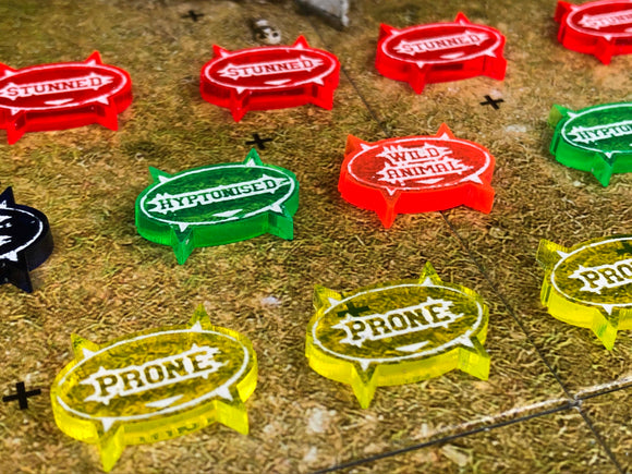 Blood Bowl Compatible Status Token set