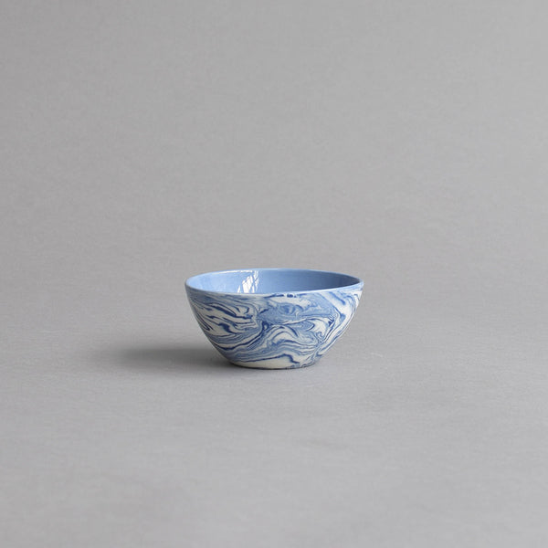 Marbled Condiment Bowl, Blue & White - Nom Living